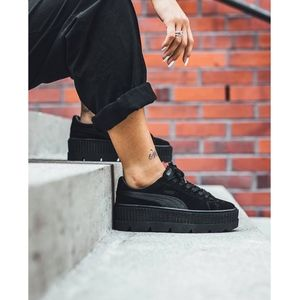 FENTY x PUMA black suede cleated creepers - size 8